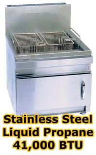 Commercial Propane Countertop Deep Fryer   22 Deep   2 Basket