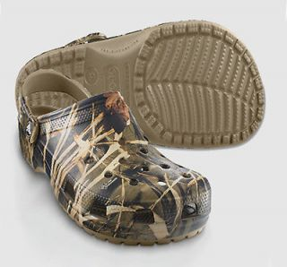 Crocs Kids Classic Realtree V2 Max 4 Khaki Camouflage Clogs All Size