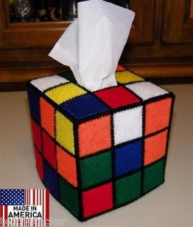 Rubik Rubiks Rubix Cube Tissue Box Cover Seen on Big Bang Theory Style