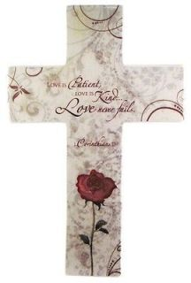 Is Patient Love Is Kind Love Never Fails Ceramic Cross by About Face