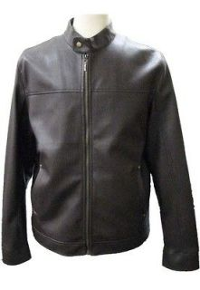 Men James Dean Style Faux Leather Jacket