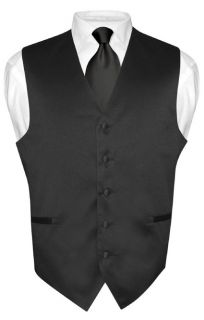Mens Silver Paisley Design Dress Vest and NeckTie Set for Suit or