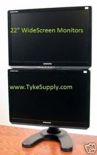 Vertical Dual Free Standing monitor stand up to 22 Monitors