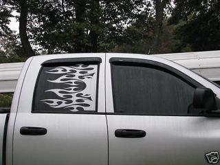 Dodge Ram rear window custom truck flame decal decals