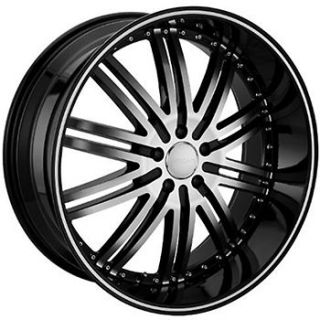 Black Menzari VIM Wheels 5x5.5 +25 DODGE RAM 1500 RAM SRT 1500  2WD