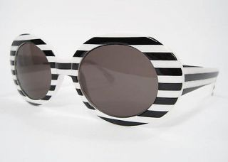 Nirvana Sunglasses Kurt COBAIN MOD PUNK Striped Stripe White