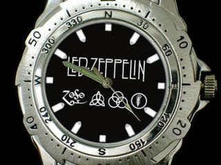 v231 Led Zeppelin Zoso Symbol Stainless Steel Watch New