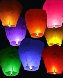Multi Color&Quantity Chinese Sky Paper Wish Fire Lamp Lantern For Xmas