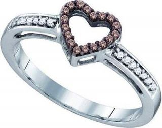 BRAND NEW 0.20CTW WHITE GOLD DIAMOND LADIES MICRO PAVE HEART RING FOR