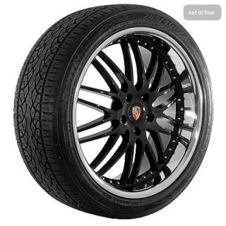 "22"" inch Black w/ chrome lip Porsche Cayenne Wheels Rims and Tires"