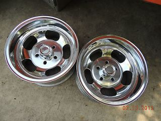 NEWLY POLISHED 14x8 SLOT MAG WHEELS CHEVELLE SS FORD MAGS CHEVY GASSER