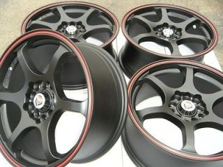 16 wheels rims matt black red ring fits Mazda Civic Sonata Tiburon