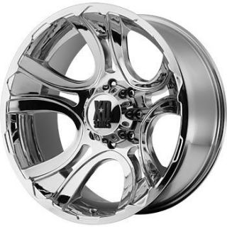 17x9 Chrome XD XD801 Crank 6x135 +0 Wheels Nitto Mud Grappler 40X13