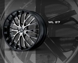 22 BLACK WHEELS TIRES 5X115 CHARGER MAGNUM CHRYSLER 300 RWD LORENZO