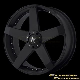 20 x10 KMC Wheels KM775 Rockstar Car Matte Black 4 5 Lug Rims FREE