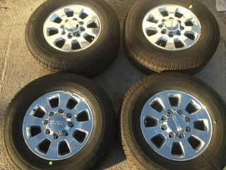 2013 GMC 18 Rims and Tires Set 2500HD 3500 HD GM Chevy Rims Wheels and