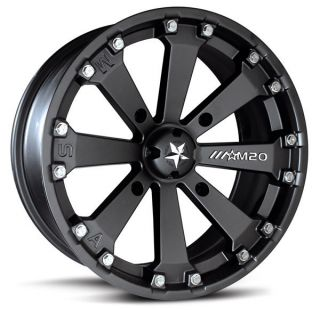 MSA M20 Kore ATV UTV Wheels Rims Black 16 2013 Polaris Ranger XP 900