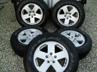 Jeep wrangler sahara wheels 18 inch rims tires 07 08 09 2010 2011 2012