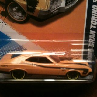 Hot Wheels 2012 Muscle Mania 72 Ford Grand Torino Sport Yellow