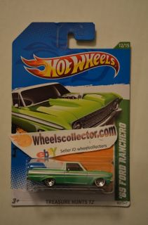 65 Ford Ranchero Green * 2012 Hot Wheels * Treasure Hunt * New M Case