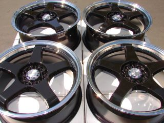 Black Effect Wheels Camry TL RSX Acura Altima Maxima 5 Lug Rims