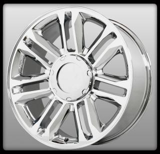 22 x 9 Wheel Replicas V1165 Platinum Cadillac Escalade Chrome 6x5 5