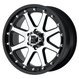 17x9 XD Addict Matte Black Machined Wheels 8x6 5 Chevy HD RAM 2500