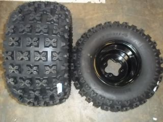 YAMAHA BANSHEE REAR BLACK WHEELS AND TIRES SEDONA BAZOOKA 20X11 9 9X8