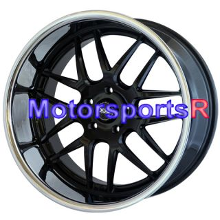 20x11 XXR 526 Black Polished Lip Rims Staggered Wheels 5x120 BMW 750LI