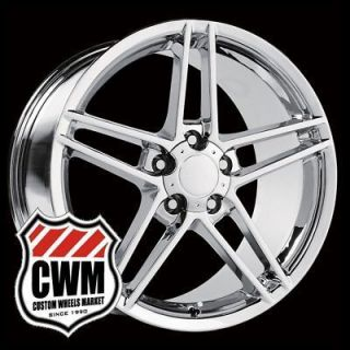 18x9.5 Corvette C6 Z06 Style Chrome Wheels Rims fit Chevy Camaro 1993