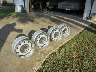 Set of 4 Mopar Rally Wheels 14 inch Chrysler Dodge Plymouth with