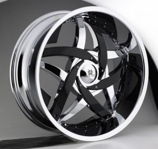 22 Hipnotic C Note Chrome Wheels Rims Caddilac Escalade Chrysler 300