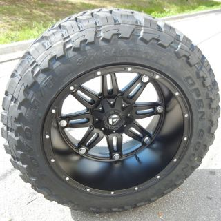 22 Fuel Hostage Wheels Rims 37x13 50 Toyo Open Country MT Tires Ford