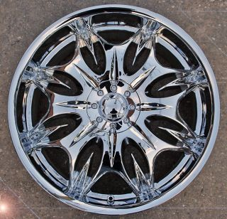 Incubus Jinx 716 22 Chrome Rims Wheels Fusion Flex Mustang 22 x 8 5