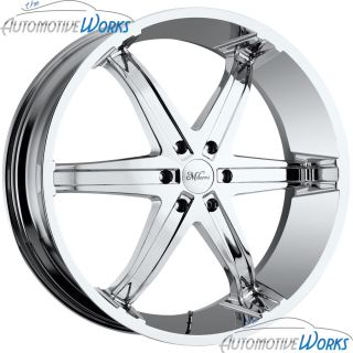 Milanni Kool Whip 6 5x115 15mm Chrome Wheels Rims inch 26