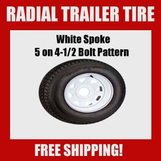 Tires St 205 75R14 Radial White Spoke Wheels Rims 14 Set of 2
