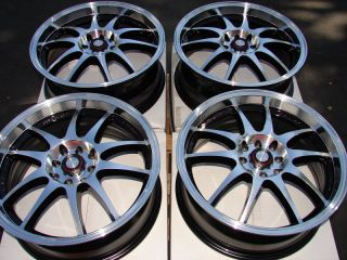 15 4x100 4x114 3 Black Effect Wheels Accord Neon G5 G3 Forenza Lancer