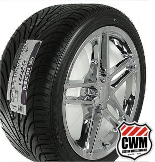 18x9 5 Corvette C6 Z06 Chrome Wheels Rims Tires direct fit for