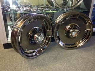 GLIDE BLACK CHROME WHEEL RIM WHEELS RIMS FLHX STREETGLIDE TOURING