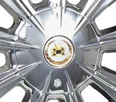 New Chrome Gold Vogue V9 V 9 Wheel Center Cap Cover MHT