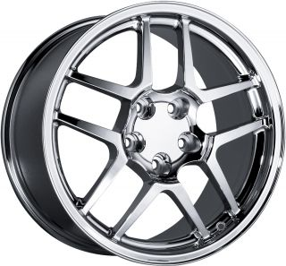 18 Staggered Chrome Corvette Z06 Wheels Rims C4 C5