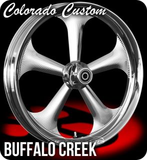 Colorado Custom Chrome 23 x 4 0 Buffalo Wheels Tires Harley FLH FLTR