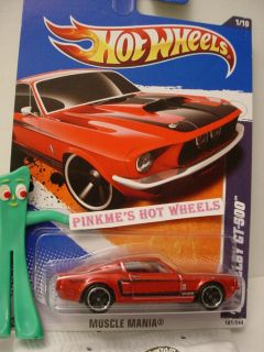 2011 Hot Wheels Muscle Mania 67 Shelby GT 500 101★RED