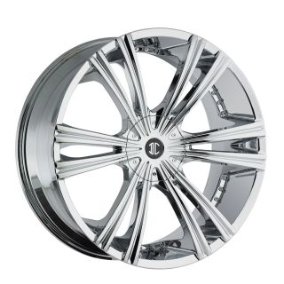 26 2CRAVE 12 Chrome Wheels Rims Tires Chevy Buick Impala Donk 877 955