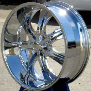 28 Wheels Rims Package Free Tires Velocity V725 Chrome F150 RAM