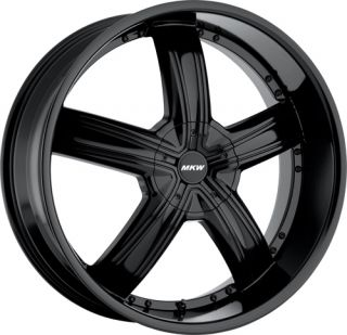 26 inch MKW M103 Black New Wheels Tires 305 30 26 Fit Chevy Ford Dodge