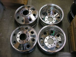 CHEVROLET CHEVY VAN 30 C30 3500 PICKUP DUALLY WHEELS RIMS 16 POLISH