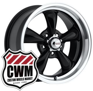 17x8 Black Wheels Rims 5x4 50 Lug Pattern for Ford Mustang 1972