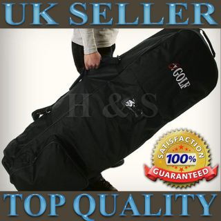 Padded Golf Bag Travel Cover Case Wheels Flight Carrying Coverall