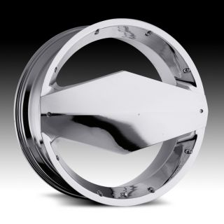 22 inch Vision Morgana Chrome Wheels Rims 5x110 32